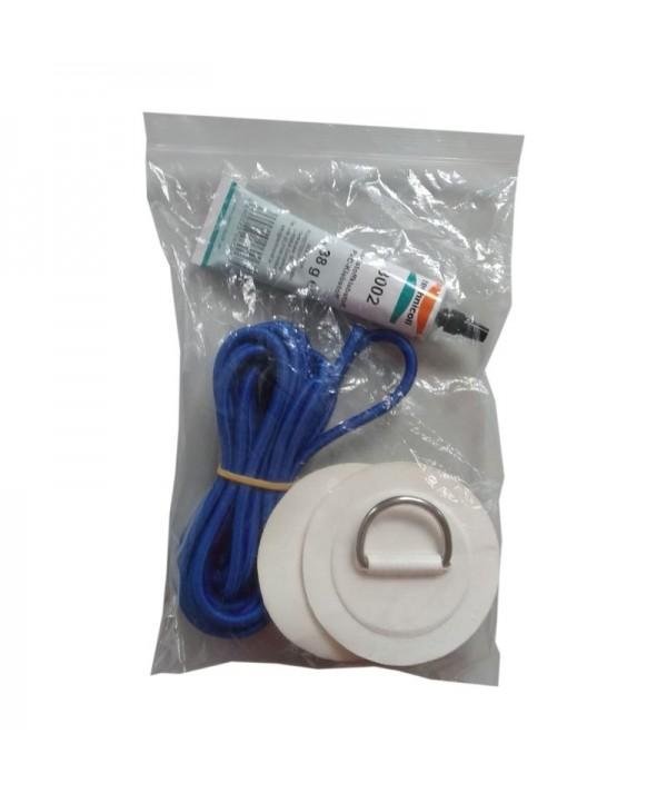 Nachrüst-Gepäcknetz Haltepunkteset mit Kleber und Gummiband